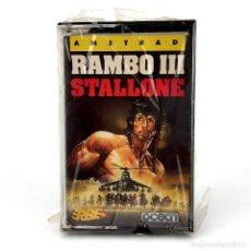 Videojuegos y Consolas: RAMBO 3 PRECINTADO ERBE LOMO AZUL ESPAÑA OCEAN STALLONE JOHN AFGANISTAN III AMSTRAD CPC 464 CASSETTE. Lote 232270330