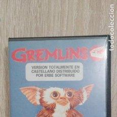 Videojuegos y Consolas: GREMLINS-AMSTRAD CASSETTE-ESTUCHE NEGRO ALMEJA-AÑO 1985-CON MAPA-MUY DIFICIL.. Lote 232884115