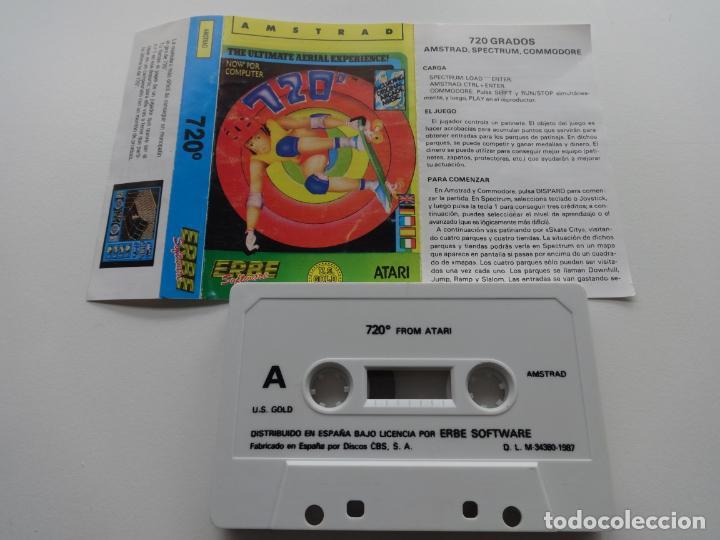 Videojuegos y Consolas: 720º 720 GRADOS DEGREES ATARI US GOLD U.S. GOLD AMSTRAD CPC 464 472 664 6128 - Foto 2 - 239859685