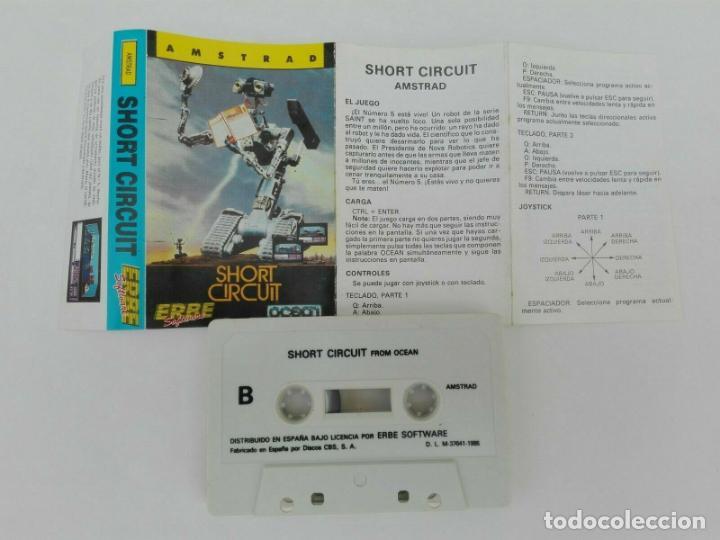 Videojuegos y Consolas: SHORT CIRCUIT CORTOCIRCUITO OCEAN AMSTRAD CPC 464 472 664 6128 - Foto 2 - 239880690