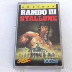 Videojuegos y Consolas: RAMBO III OCEAN AMSTRAD CPC 464 472 664 6128. Lote 239887025