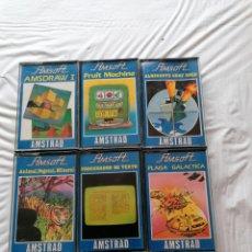 Videojuegos y Consolas: AMSTRAD PLAGA GALACTICA, ALMIRANTE GRAF SPEE, FRUIT MACHINE, AMSDRAW I, PROCESADOR DE TEXTOS,. Lote 242065395