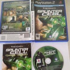 Videojuegos y Consolas: TOM CLANCY'S SPLINTER CELL CHAOS THEORY PS2 PLAYSTATION 2 COMPLETO PAL-ESPAÑA. Lote 245954665