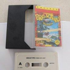 Videojuegos y Consolas: BREAKTHRU AMSTRAD CPC 464 CASETTE CINTA ORIGINAL. Lote 245959415
