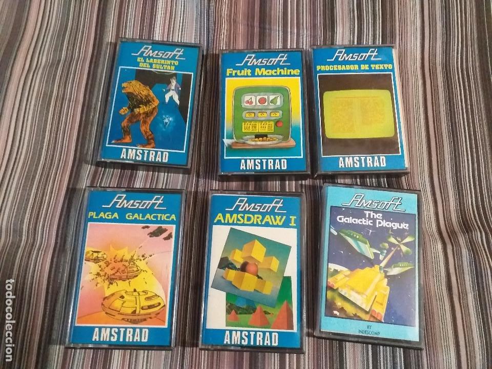 6 CASETES JUEGOS AMSTRAD AMSOFT PLAGA GALÁCTICA LABERINTO SULTÁN FRUIT MACHINE (Juguetes - Videojuegos y Consolas - Amstrad)