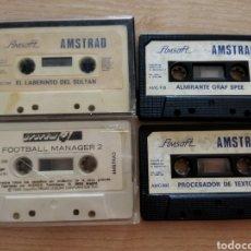 Videojuegos y Consolas: LOTE CINCO CINTAS AMSTRAD, AMSOFT.. Lote 241025900