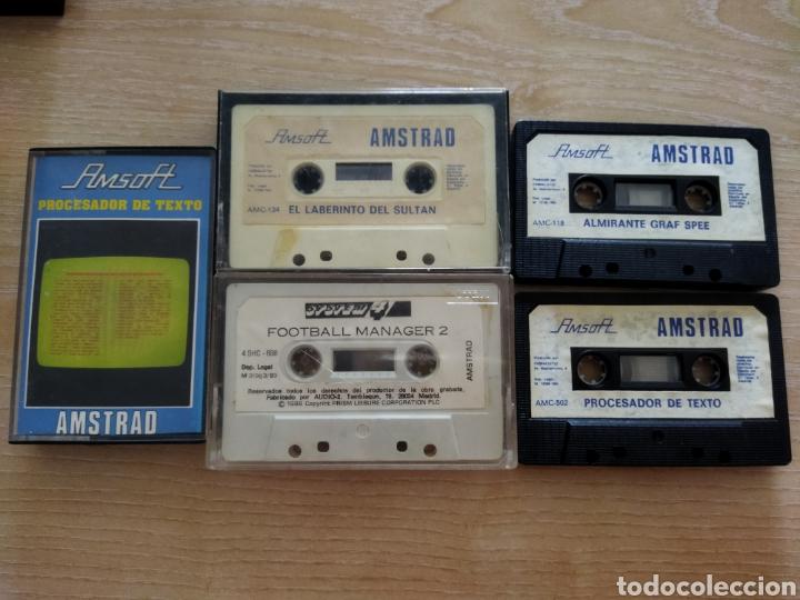 Videojuegos y Consolas: Lote Cinco cintas Amstrad, Amsoft. - Foto 3 - 241025900