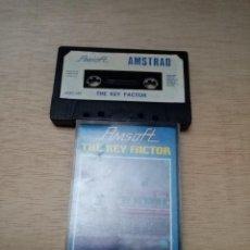 Videojuegos y Consolas: THE KEY FACTOR. AMSFOFT. AMSTRAD. Lote 254167865