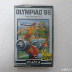 Videojuegos y Consolas: OLYMPIAD 86 / JEWELL CASE / AMSTRAD CPC 464 / RETRO VINTAGE / CASSETTE - CINTA. Lote 255349975