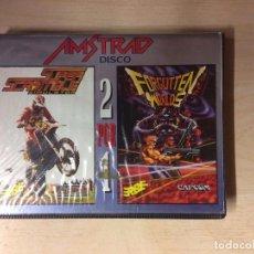 Videojuegos y Consolas: FORGOTTEN WORLDS Y SUPER SCRAMBLE AMSTRAD DISCO. Lote 256034570
