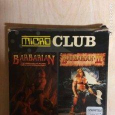 Videojuegos y Consolas: MICRO CLUB BARBARIAN I Y II AMSTRAD DISCO. Lote 257294165