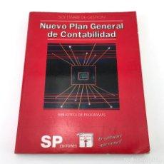 Videojuegos y Consolas: NUEVO PLAN GENERAL DE CONTABILIDAD. SOFTWARE GESTION BIBLIOTECA PROGRAMAS SP EDITORES MANUAL AMSTRAD. Lote 262218015