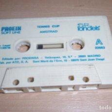 Videojuegos y Consolas: AMSTRAD CINTA CASSETTE TENNIS CUP LORICELS. MUY RARA!!!. Lote 264451604