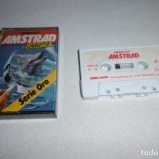Videojuegos y Consolas: CINTA CASSETTE MICROHOBBY AMSTRAD SERIE ORO Nº12. MUY RARA!!!. Lote 265653339