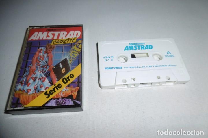 CINTA CASSETTE MICROHOBBY AMSTRAD SERIE ORO Nº15. MUY RARA!!!. (Juguetes - Videojuegos y Consolas - Amstrad)