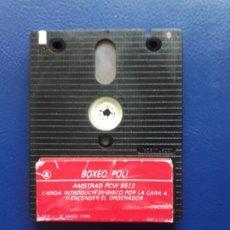 Videojuegos y Consolas: JUEGO PCW BOXEO POLI. ORIGINAL. AMSTRAD 8256, 8512 Y 9512. SOLO DISCO. Lote 267118984