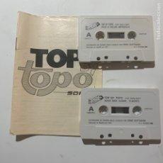 Videojuegos y Consolas: TOP BY TOPO JUEGO AMSTRAD EMILIO BUTRAGUEÑO, WELLS FARGO, BLACK BEARD, TUAREG, MAD MIX GAME. Lote 269245463