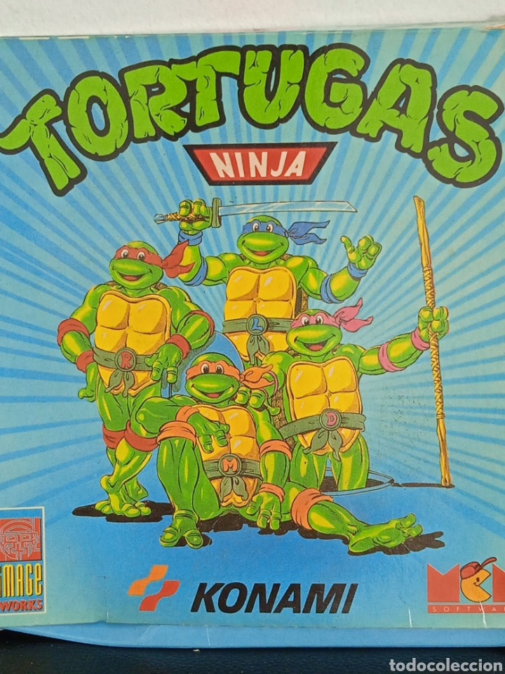 Videojuegos y Consolas: TORTUGAS NINJA JUEGO DE AMSTRAD EN CAJA DE COLECCIONISTA KONAMI - Foto 2 - 272034168