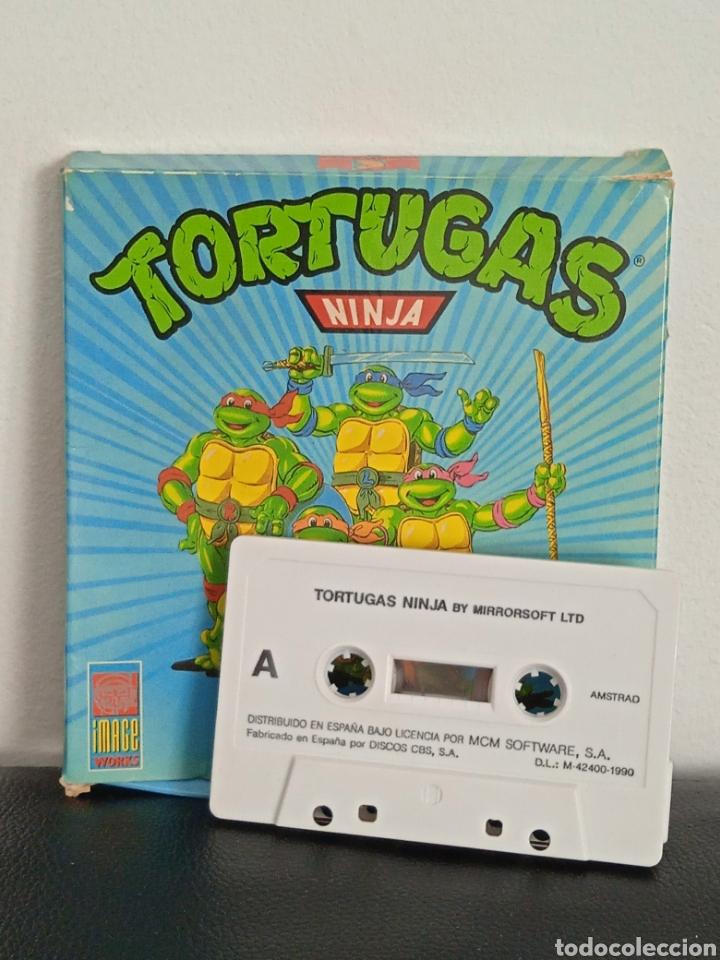 Videojuegos y Consolas: TORTUGAS NINJA JUEGO DE AMSTRAD EN CAJA DE COLECCIONISTA KONAMI - Foto 4 - 272034168