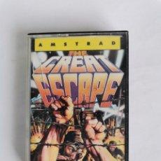 Videojuegos y Consolas: THE GREAT ESCAPE OCEAN ERBE SOFTWARE AMSTRAD CPC 464 CASETE AÑO 1986. Lote 275656258