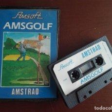 Videojuegos y Consolas: JMFC - CASETE / CASSETTE VIDEOJUEGO AMSTRAD - AMSOFT - AMSGOLF. Lote 278577428