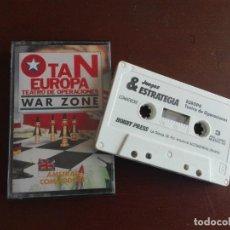 Videojuegos y Consolas: JMFC - CASETE / CASSETTE VIDEOJUEGO AMSTRAD / COMMODORE - HOBBY PRESS - OTAN EUROPA - WAR ZONE. Lote 278578603