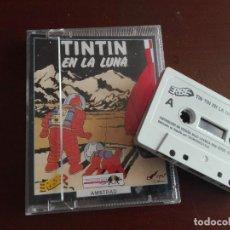 Videojuegos y Consolas: JMFC - CASETE / CASSETTE VIDEOJUEGO AMSTRAD - ERBE - TIN TIN / TINTIN EN LA LUNA. Lote 278578688