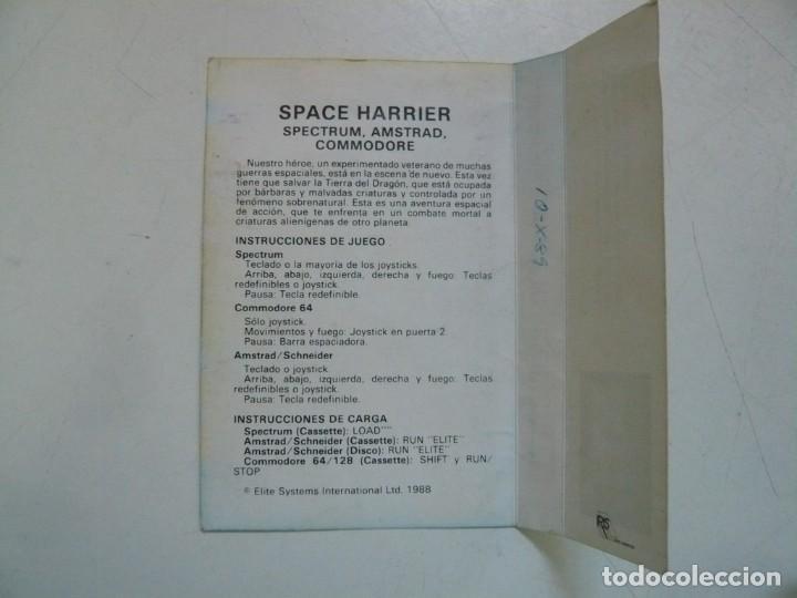Videojuegos y Consolas: SPACE HARRIER / Amstrad CPC 464 / Retro Vintage / Cassette - Cinta - Foto 3 - 288175883