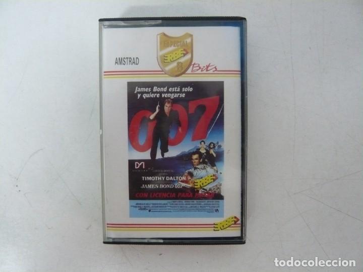 JAMES BOND 007 LICENCIA PARA MATAR / AMSTRAD CPC 464 / RETRO VINTAGE / CASSETTE - CINTA (Juguetes - Videojuegos y Consolas - Amstrad)