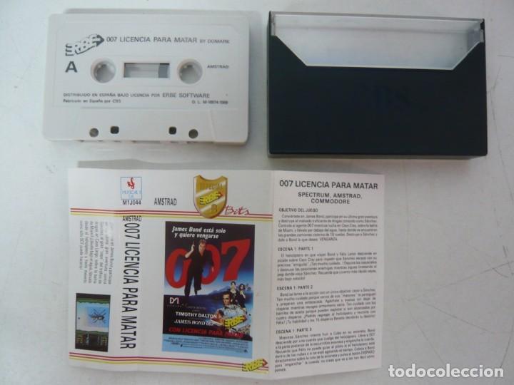 Videojuegos y Consolas: JAMES BOND 007 LICENCIA PARA MATAR / Amstrad CPC 464 / Retro Vintage / Cassette - Cinta - Foto 2 - 288176153
