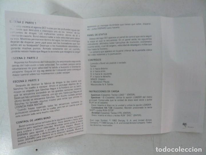 Videojuegos y Consolas: JAMES BOND 007 LICENCIA PARA MATAR / Amstrad CPC 464 / Retro Vintage / Cassette - Cinta - Foto 3 - 288176153