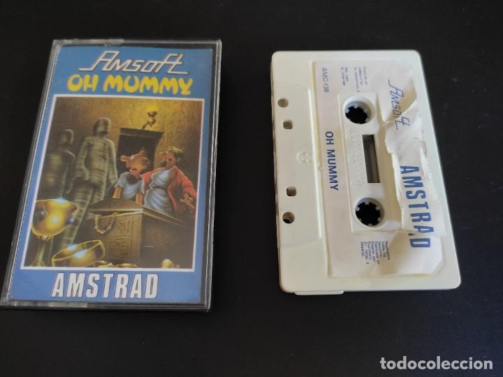 VIDEOJUEGO CASSETTE AMSTRAD AMSOFT OH MUMMY (Juguetes - Videojuegos y Consolas - Amstrad)