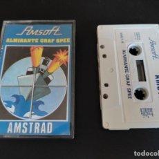 Videojuegos y Consolas: VIDEOJUEGO CASSETTE AMSTRAD AMSOFT ALMIRANTE GRAF SPEE. Lote 288179668
