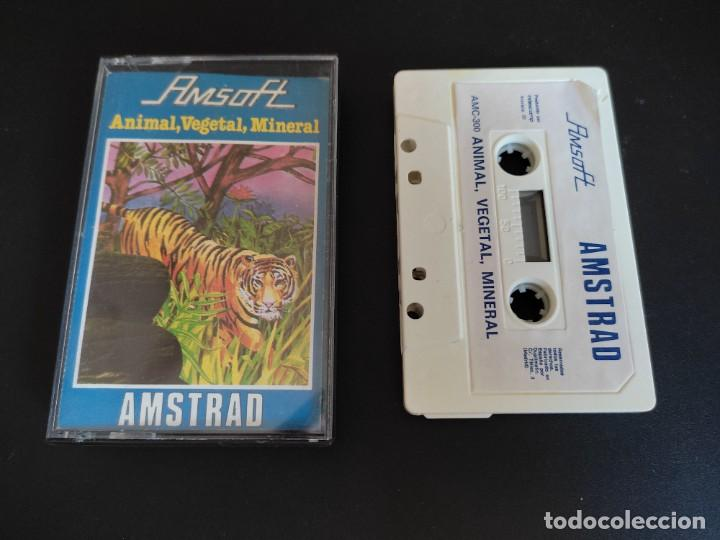 VIDEOJUEGO CASSETTE AMSTRAD AMSOFT ANIMAL VEGETAL MINERAL (Juguetes - Videojuegos y Consolas - Amstrad)