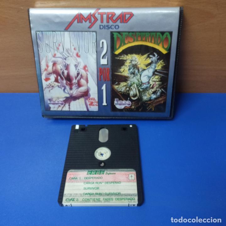 JUEGO DESPERADO Y SURVIVOR PARA AMSTRAD - AMSTRAD DISK - ERBE SOFTWARE - 2 POR 1 (Juguetes - Videojuegos y Consolas - Amstrad)