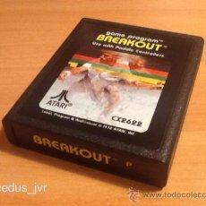 Videojuegos y Consolas: BREAKOUT BREAK OUT JUEGO PARA ATARI 2600 SOLO CARTUCHO. Lote 37597038