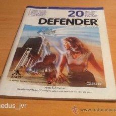 Videojuegos y Consolas: DEFENDER MANUAL DE INSTRUCCIONES LIBRO DE USUARIO PARA JUEGO DE ATARI 2600. Lote 37597321