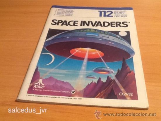 SPACE INVADERS MANUAL DE INSTRUCCIONES LIBRO DE USUARIO PARA JUEGO DE ATARI 2600 (Juguetes - Videojuegos y Consolas - Atari)