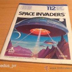 Videojuegos y Consolas: SPACE INVADERS MANUAL DE INSTRUCCIONES LIBRO DE USUARIO PARA JUEGO DE ATARI 2600. Lote 37597344