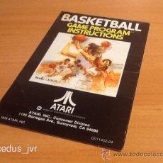 Videojuegos y Consolas: BASKETBALL MANUAL DE INSTRUCCIONES LIBRO DE USUARIO PARA JUEGO DE ATARI 2600. Lote 37597380