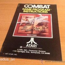 Videojuegos y Consolas: COMBAT MANUAL DE INSTRUCCIONES LIBRO DE USUARIO PARA JUEGO DE ATARI 2600. Lote 37597382