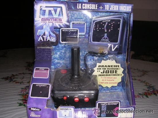 CONSOLA ATARI + 10 JUEGOS NUEVA (Juguetes - Videojuegos y Consolas - Atari)