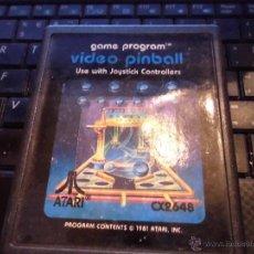 Videojuegos y Consolas: JUEGO VIDEO CONSOLA ATARI 2600,VIDEO PINBALL, SOLO CARTUCHO. Lote 81175756