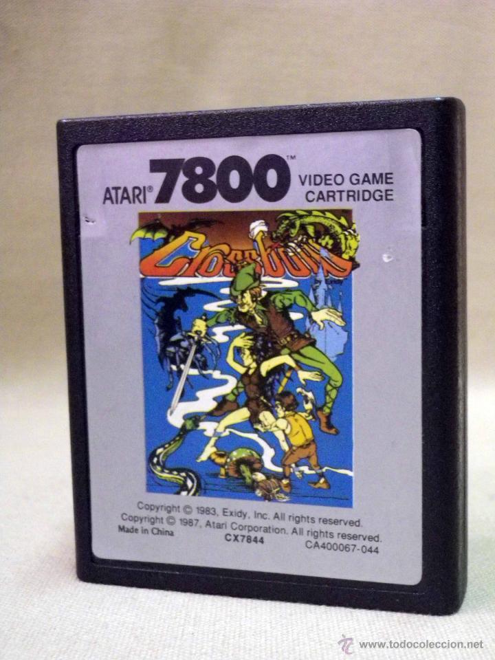JUEGO PARA ATARI 7800, CROSSBOW, 1987, VIDEO GAME, CARTRIDGE (Juguetes - Videojuegos y Consolas - Atari)