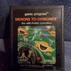 Videojuegos y Consolas: JUEGO ATARI 2600,DEMONS TO DEMONDS,SOLO CARTUCHO. Lote 47686945