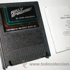 Videojuegos y Consolas: JOHN ANDERSON´S RALLY SPEEDWAY [CARTUCHO E INSTRUCCIONES ADAPTADAS] ATARI 400 800 XE XL 8BITS [1983]. Lote 28389408