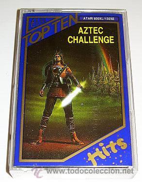 AZTEC CHALLENGE [COSMI] 1983 [TOP TEN HITS] [ATARI 600 / 800 / XL / XE] ROBERT T. BONIFACIO (Juguetes - Videojuegos y Consolas - Atari)