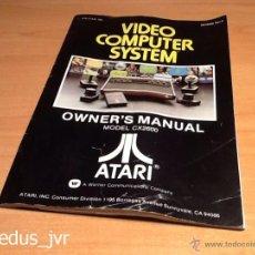 Videojuegos y Consolas: MANUAL DE USUARIO PARA ATARI 2600 LIBRO DE INSTRUCCIONES EN BUEN ESTADO ORIGINAL. Lote 50626328