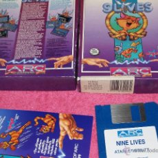 Videojuegos y Consolas: GAME FOR ATARI ST 1990 ARC SOFTWARE 9LIVES NINE LIVES SPANISH VERSION. Lote 51794016