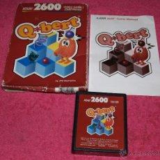 Videojogos e Consolas: GAME CARTRIDGE COMPLETE Q.BERT ATARI 2600 FUNCIONANDO RUNNING OK. Lote 52541242